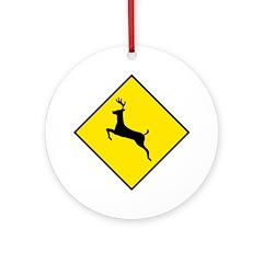 Deer Crossing Sign - Keepsake (Round)