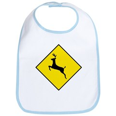 Deer Crossing Sign - Bib