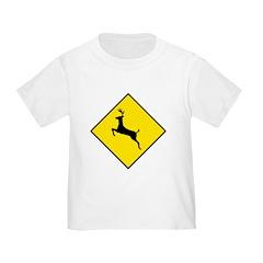 Deer Crossing Sign - Toddler T-Shirt