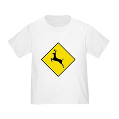 Deer Crossing Sign - T