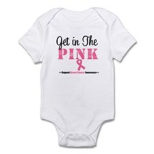 Get in The Pink Breast Cancer Infant Bodysuit