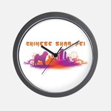 """City"" Chinese Shar-Pei Wall Clock"