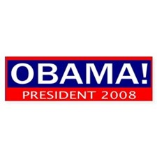 barack obama president in 2008 Bumper Car Sticker