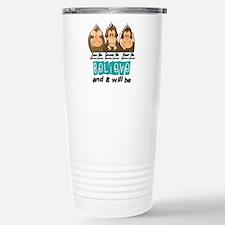 See Speak Hear No Uterine Cancer 3 Travel Mug