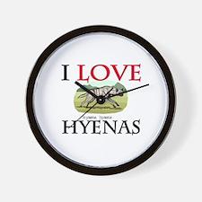 I Love Hyenas Wall Clock