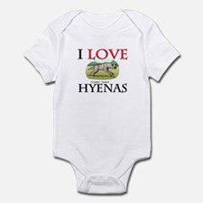 I Love Hyenas Infant Bodysuit