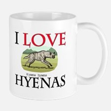 I Love Hyenas Small Small Mug