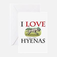 I Love Hyenas Greeting Cards (Pk of 10)
