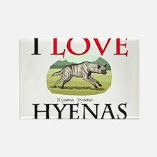 I Love Hyenas Rectangle Magnet