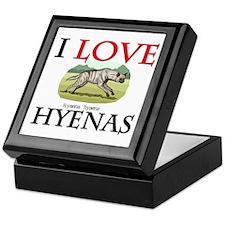 I Love Hyenas Keepsake Box