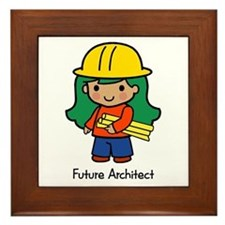 Future Architect - girl Framed Tile