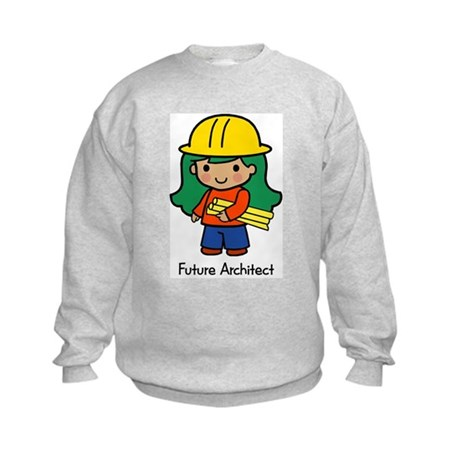 Future Architect - girl Kids Sweatshirt
