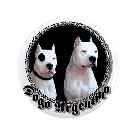 "Dogo Argentino 3.5"" Button (100 pack)"