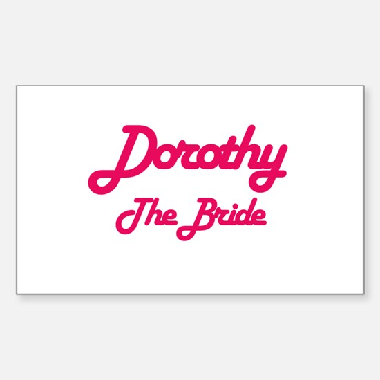 Dorothy - The Bride Rectangle Decal