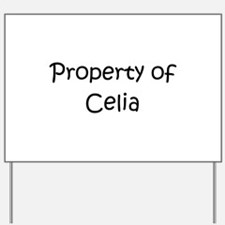 Unique Celia Yard Sign