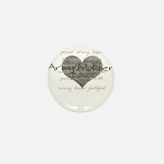 Army Mother Mini Button