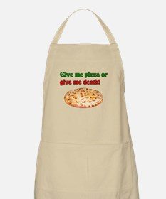 Give me pizza or give me death! BBQ Apron