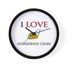 I Love Horseshoe Crabs Wall Clock