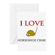 I Love Horseshoe Crabs Greeting Cards (Pk of 10)