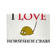 I Love Horseshoe Crabs Rectangle Magnet (10 pack)