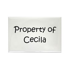 Funny Cecila Rectangle Magnet