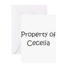 Unique Cecelia Greeting Card