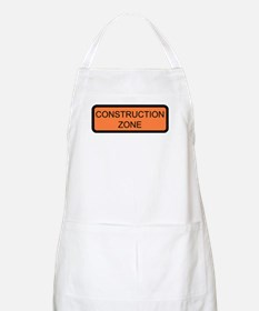 Construction Zone Sign BBQ Apron