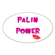 Palin Power Lips Oval Decal