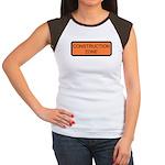 Construction Zone Sign Women's Cap Sleeve T-Shirt