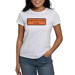 Construction Zone Sign Women's T-Shirt