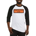 Construction Zone Sign Baseball Jersey