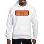 Construction Zone Sign Hooded Sweatshirt