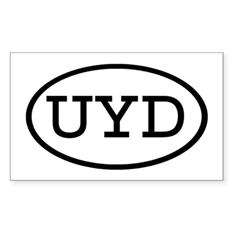 UYD Oval Rectangle Sticker