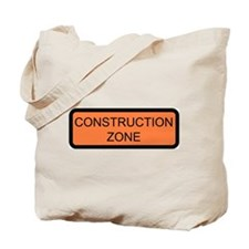 Construction Zone Sign - Tote Bag