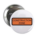 """Construction Zone Sign - 2.25"""" Button (10 pack)"""