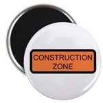 """Construction Zone Sign - 2.25"""" Magnet (10 pack)"""