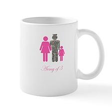 Army of 3 (baby girl) Mug