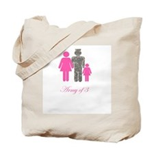 Army of 3 (baby girl) Tote Bag