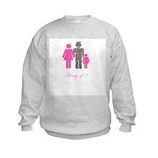 Army of 3 (baby girl) Sweatshirt