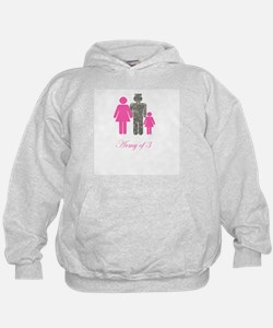 Army of 3 (baby girl) Hoodie