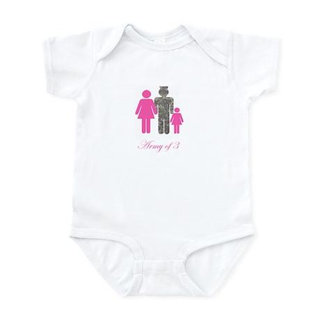 Army of 3 (baby girl) Infant Bodysuit