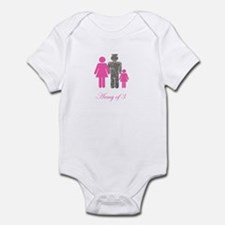 Army of 3 (baby girl) Onesie