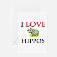 I Love Hippos Greeting Cards (Pk of 10)