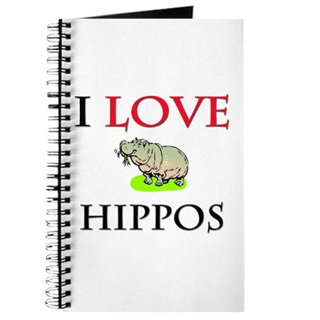 I Love Hippos Journal