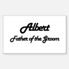 Albert - Father of the Groom Rectangle Decal