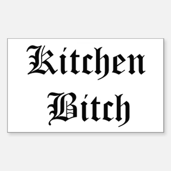 Kitchen Bitch Rectangle Decal