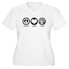 Peace Love Jane T-Shirt