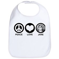 Peace Love Jane Bib