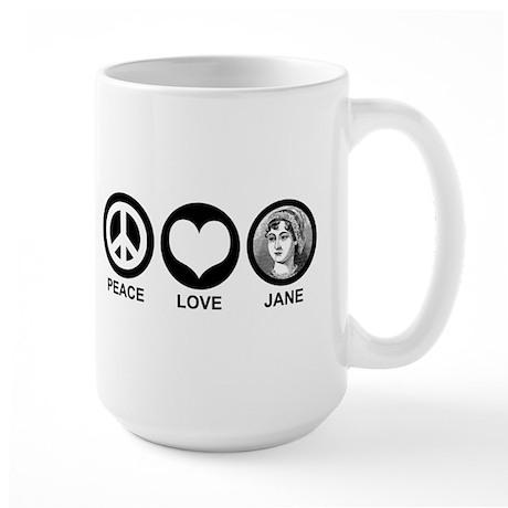 Peace Love Jane Large Mug