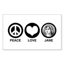 Peace Love Jane Rectangle Decal
